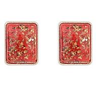 Retro Luxury Diamond Square Earrings