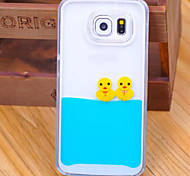 Bald Ducklings PC and Color Liquid Ocean oil Combo Cell Phone case for Samsung Galaxy S6