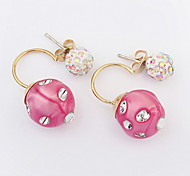 Fashion Lovely Sweet Candy Lacquered Diamond Earrings