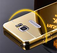 bling de aleación de espejo marco de plástico acrílico caso de la contraportada de aluminio del metal para Samsung nota 2/3/4/5