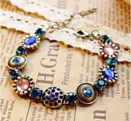 Fashion Jewelry Retro Crystal Flower Bracelet