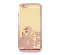 fleur quatre TPU plaquent avec affaire pour iPhone6 / 6s