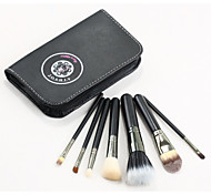 Professional 6 Pieces Wood Handle Eye Brushes Makeup Flat Brushes Cosmetics Professional Makeup Brush Set Hairbrush