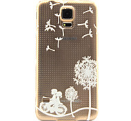 Cycling dandelion Pattern TPU Relief Back Cover Case for Galaxy S5/Galaxy S6/Galaxy S6 Edge Plus
