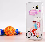 Bike Lover Pattern Luxury Fashion Acrylic soft Case with Diamond for Samsung Galaxy S6/S6 edge