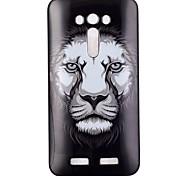 leão padrão de caixa do telefone TPU para zenfone ze550kl 2 a laser