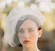 Handmade White Veil Mask Hair Jewelry for Wedding Party