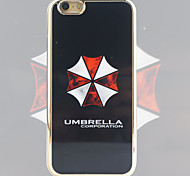 Umbrella Company Pattern Black Gold Plated High-Grade TPU Phone Case for iPhone 6/6S