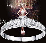 9999 Pure Stering Silver Crown Bangle Bracelet