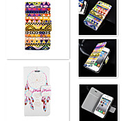 CaseBox® Dreamcatcher Geometrical Design PU Leather Full Body Case for iPhone 4/4S
