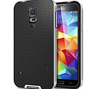 Highly Protective Grid Pattern Hybrid Hard Case for  Samsung Galaxy i9600 S5(Assorted Colors)