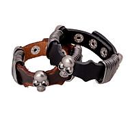 Steel Wire Wrap Skeleton Leather Bracelets