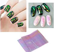 1Pcs New Arrive Broken Glass Mirror Foil Nail Art Paper Sticker DIY Nail Beauty Decoration Tools 8 Colors Options