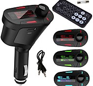 Car MP3 Player Wireless FM Transmitter With USB for SD MMC Card Slot