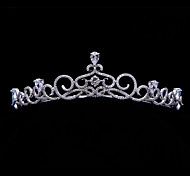 Handmade Pave AAA CZ Bridal Crown Princess Royal Tiara Wedding Party Hair Accessories