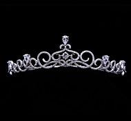 Handmade Pave AAA CZ Bridal Crown Princess Royal Tiara Wedding Party Hair AccessoriesImitation Diamond Birthstone