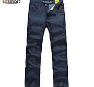 Lesmart Hommes Droite Pantalon Bleu - LW13355