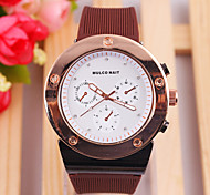 Ladies' Watch Korean High-Grade Metal Dial Silicone Quartz Watch
