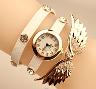 Sra. nuevo ángel, brazalete de diamantes de la PU del reloj de crucero