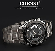 Men's Classic Business Style Steel Strap Quartz Watch