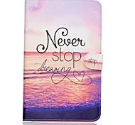 nooit stoppen met dromen patroon pu lederen full body case TPU met standaard voor Samsung Galaxy Tab e sm-T560 sm-t561