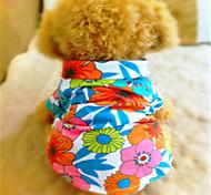 Hunde T-shirt / Shirt Mehrfarbig Sommer Blumen / Pflanzen Modisch