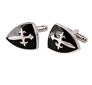 Jewelry Brass Material, The Spear And The Shield Shape Cufflinks