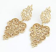 Tropfen-Ohrringe Kristall Perle Künstliche Perle Strass 18K Gold Imitation Diamant Aleación Modisch Gold Schmuck 2 Stück