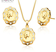 Luxury Austrian crystal Queen Pendants Necklaces Earrings Jewelry Set 18K Gold Plated Fashion Jewelry Sets gifts S20127