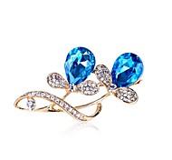 grandes diamantes de imitación broche de accesorios de moda grandes del tamaño de la hoja de resina racimos de flores de color púrpura