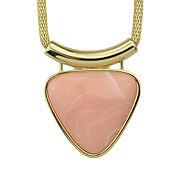 Big Stone Triangle Shape Statement Pendant Trendy Necklace
