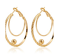 Golden Aolly Hoop Earrings