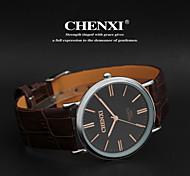Men's Classic Business Style Leather Strap Quartz Watch