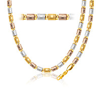 Three Color Gold Bracelet 18K Gold Plated Jewelry New Trendy 56MM Chain Necklace&Bracelet Christmas Gift NB60070