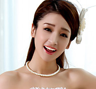 Exquisite Fashion Lady White Pearl Necklace