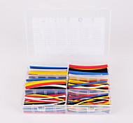Iztoss 180pcs 90mm 2:1 ratio 6 Size Φ1.6-9.5 0.8mm-4.8mm Polyolefin Heat Shrink Tubing sleeve Cable wrap Kit