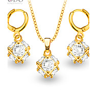 New Luxury Crystal Necklace Earrings Jewelry Sets 18K Gold Plated fashion zircon Jewelry Set Women Party Gift S20062