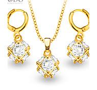 Bijoux Colliers décoratifs / Boucles d'oreille Mariage / Soirée / Quotidien / Décontracté / N/C Plaqué or 1set Femme Cadeaux de mariage