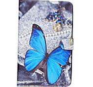 vlinder patroon pu lederen full body case TPU met standaard voor Samsung Galaxy Tab e sm-T560 sm-t561