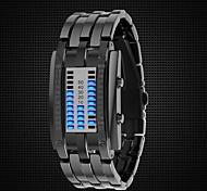 Mulheres Relógio de Moda Digital LED Lega Banda Preta / Prata marca-