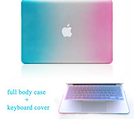 "High Quality Hard Protective Matte Gradient Color Full Body Case and TPU Keyboard Cover for 13.3""/15.3"" MacBook Pro"