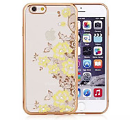 Lace Flower Yellow Electroplate Tpu With Back Case For Iphone6/6s(Assorted Colors)