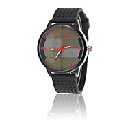 Luminous needle Korean fashion silicone watch Geneva Women's fashion male table retro big dial jelly military Cool Watches Unique Watches