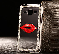 DIY Lips with Rhinestone Pattern PC Hard Case for Multiple Samsung Galaxy S3/S4/S5/S6/S6Edge/S6EdgePlus/S7