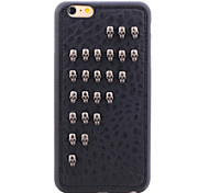 Rivet Leather Series Black Cool Skulls TPU Soft Back Cover for iPhone 5/5S