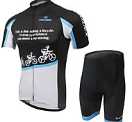 XINTOWN Breathable Quick Dry Cycling Bike Short Sleeve Jersey Shorts Set Bicycle Sportswear Clothing Suit