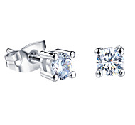 925 Silver AAA Zirconium Drill Stud Earrings