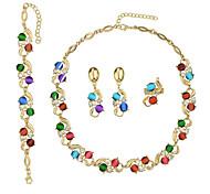 Bijoux Colliers décoratifs / Boucles d'oreille / Anneaux Quotidien Alliage 1set Femme Cadeaux de mariage