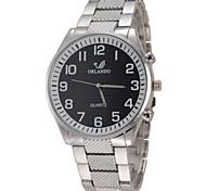 Men's Casual Design Alloy Band Quartz Wristwatch
