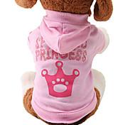 Коты / Собаки Толстовки Розовый Одежда для собак Весна/осень Тиары и короны Милые / Мода